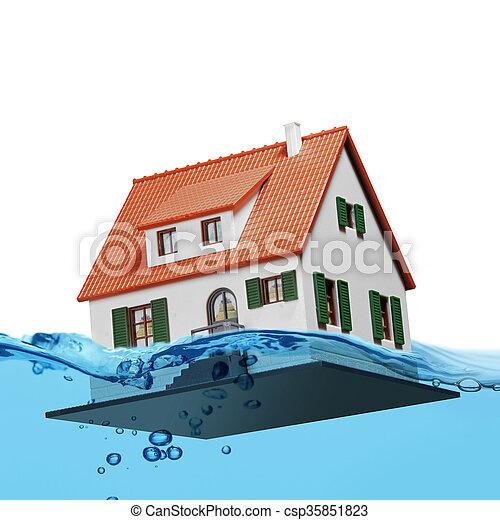 blue water splash isolated - csp35851823