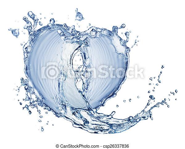 blue water splash isolated - csp26337836