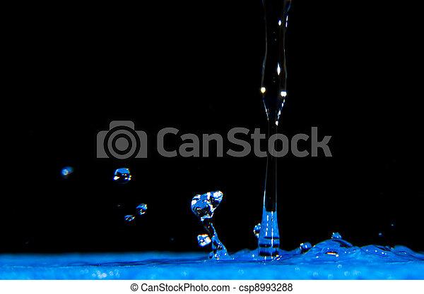 Blue Water Splash - csp8993288