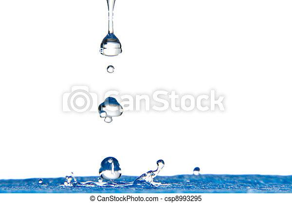 Blue Water Splash - csp8993295