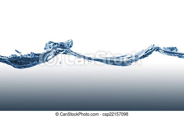 Blue water splash - csp22157098