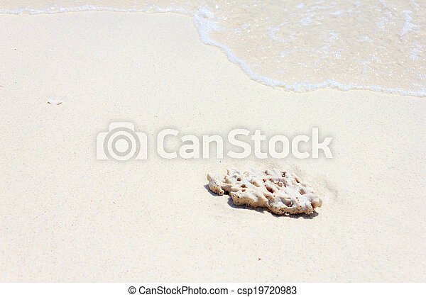 Blue water with small stones - csp19720983