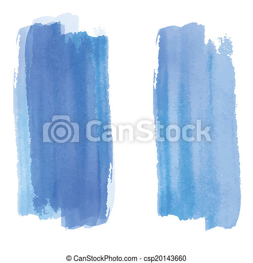 Blue watercolor background banner for your design. - csp20143660