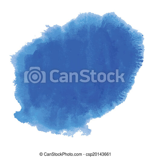 Blue watercolor background banner for your design. - csp20143661