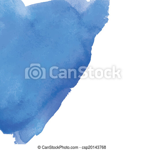 Blue watercolor background banner for your design. - csp20143768