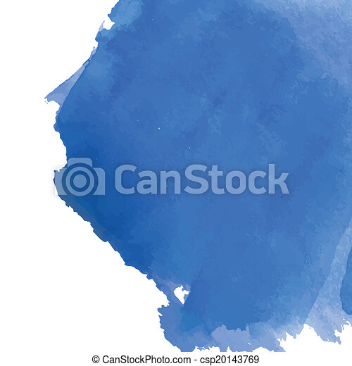 Blue watercolor background banner for your design. - csp20143769