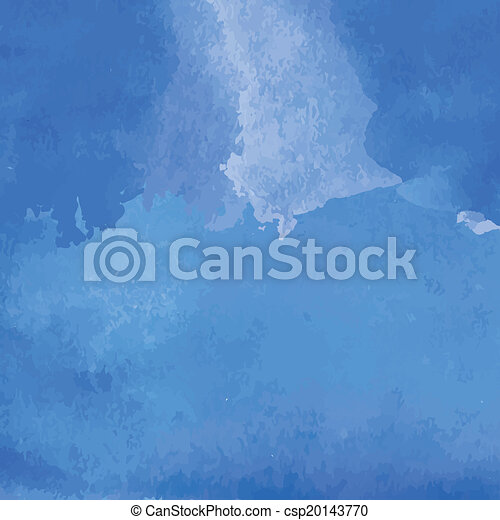 Blue watercolor background banner for your design. - csp20143770