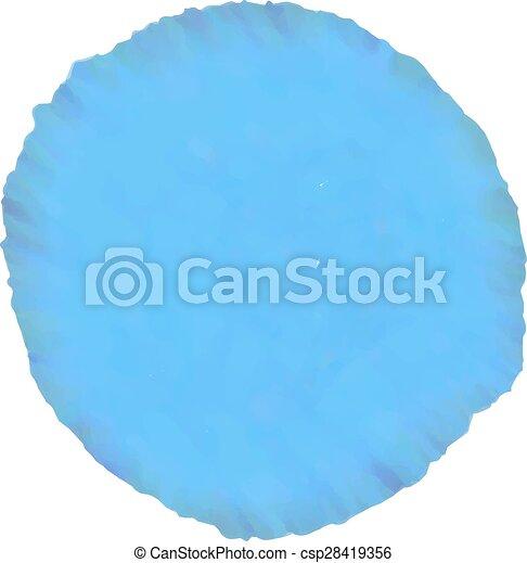 blue watercolor design element - csp28419356