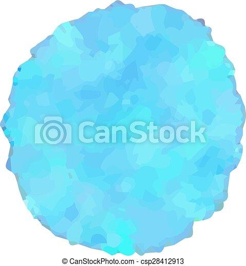 blue watercolor design element - csp28412913