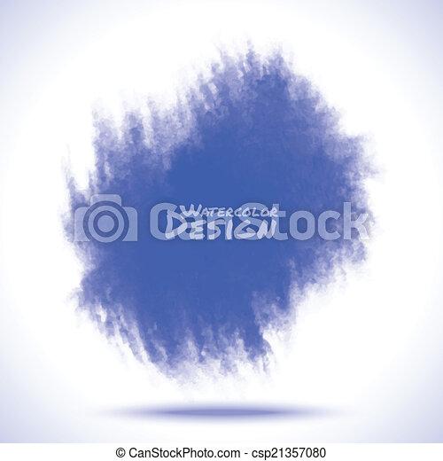Blue Watercolor splatter - csp21357080