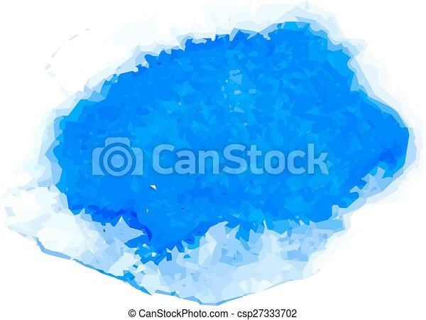 blue watercolor - csp27333702