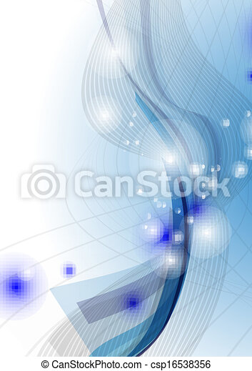 Blue Wave Abstract Background. - csp16538356