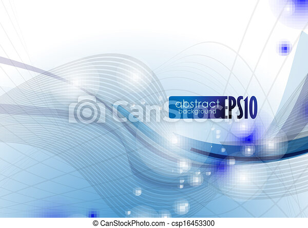 Blue Wave Abstract Background. - csp16453300