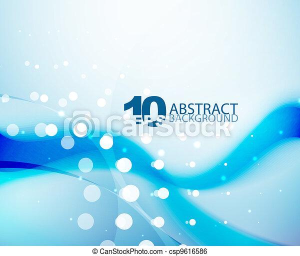 Blue wave background - csp9616586