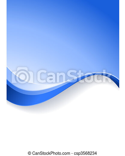 Blue wave background template - csp3568234