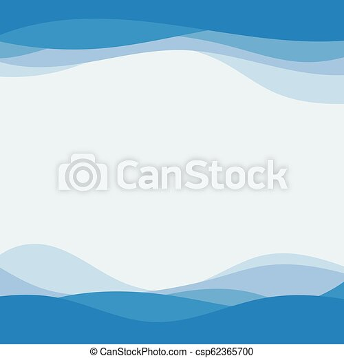 Blue Wave Concept Abstract Vector Background