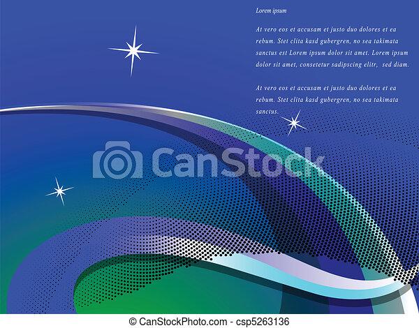 blue wavy background - csp5263136