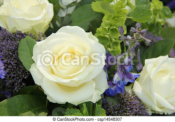 Blue white flower arrangement for a wedding wedding arrangement in blue white flower arrangement for a wedding csp14548307 mightylinksfo