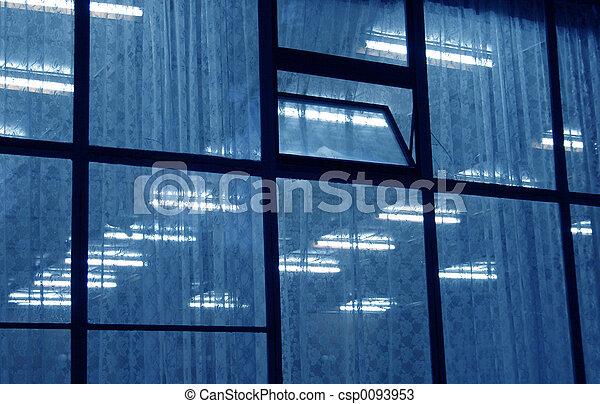 Blue window neons - csp0093953