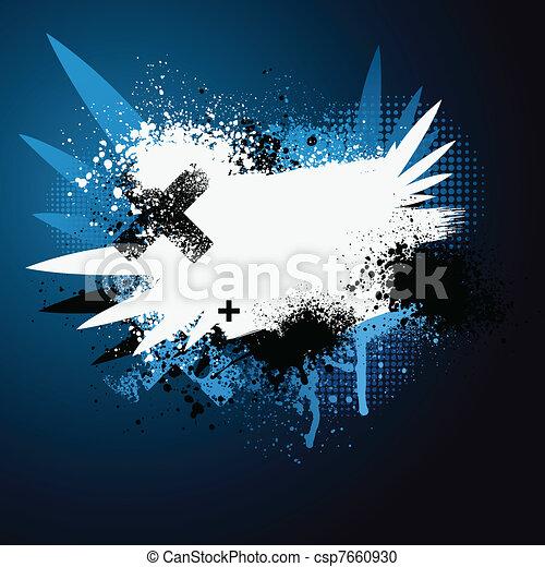 Blue wing paint splatter - csp7660930