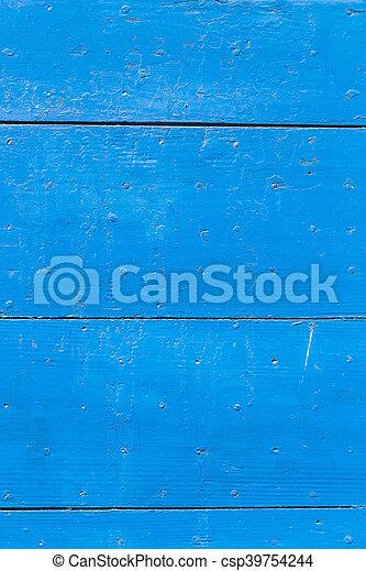 blue wooden background - csp39754244