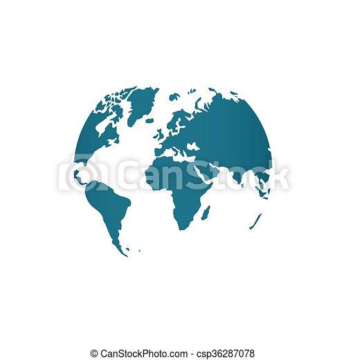 Blue world map globe vector illustration isolated on white blue world map globe vector illustration isolated on white gumiabroncs Image collections