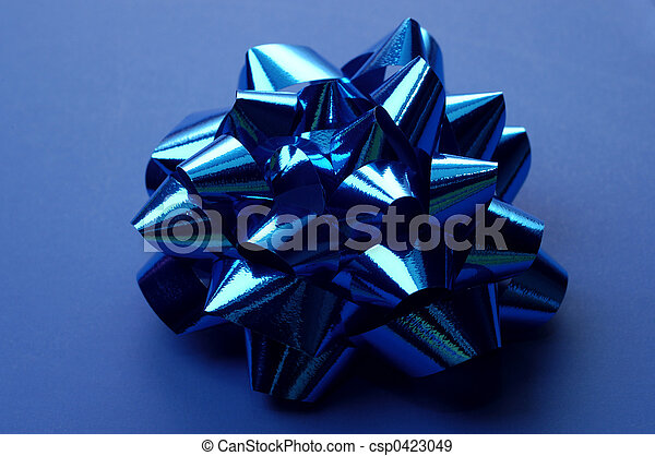 Blue Wrapping Bow - csp0423049