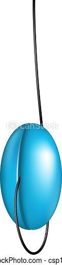 Blue yo yo - csp13752121