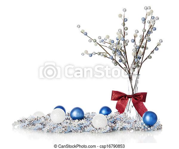 Blueand White Christmas Still Life - csp16790853