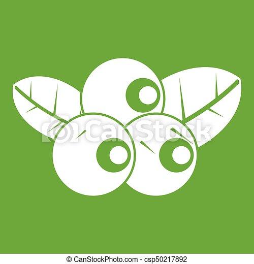 Blueberries icon green - csp50217892