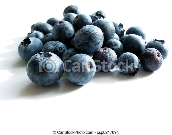 Blueberries on white - csp0217894