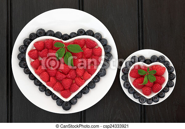 Blueberry and Raspberry Super Food - csp24333921