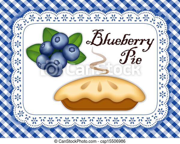 Blueberry Pie - csp15506986