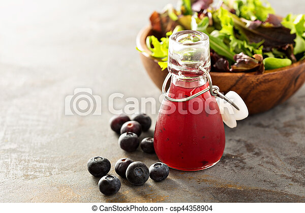 Blueberry vinaigrette salad dressing - csp44358904