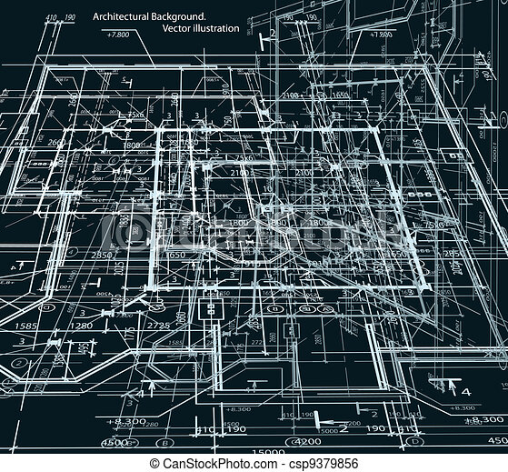 Blueprint abstract dark background vector blueprint of house in blueprint abstract dark background vector malvernweather Choice Image