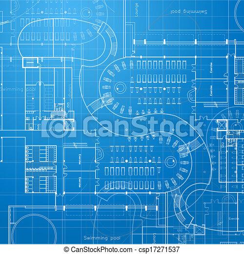 Blueprint. Architectural background - csp17271537