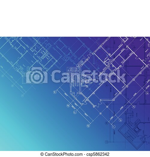 Blueprint architectural background vector blue vector blueprint architectural background csp5862342 malvernweather Gallery