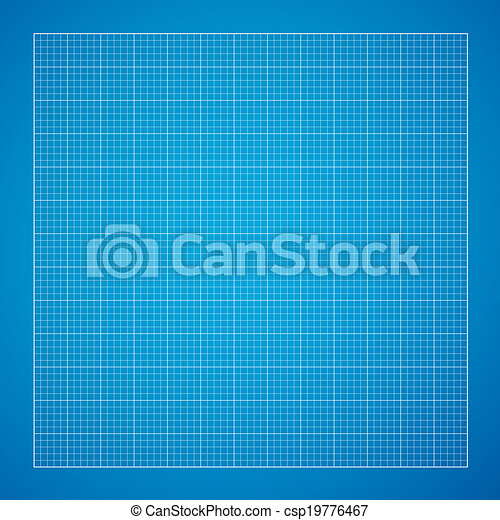 Vector blueprint background white grid on blue paper blueprint background csp19776467 malvernweather Choice Image