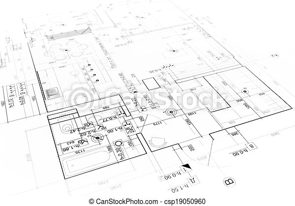 Blueprint Background Architectural Background With Technical