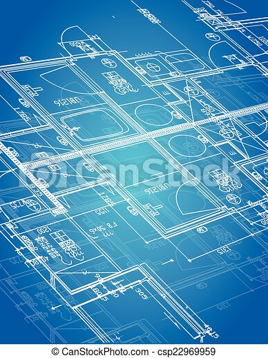 blueprint blueprint illustration - csp22969959