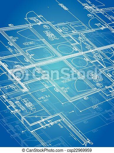 blueprint blueprint illustration - csp22969959