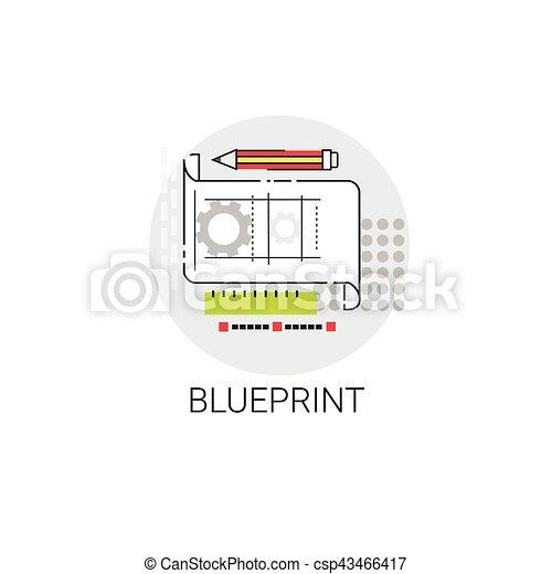 Blueprint building project construction engineering icon vector blueprint building project construction engineering icon csp43466417 malvernweather Gallery