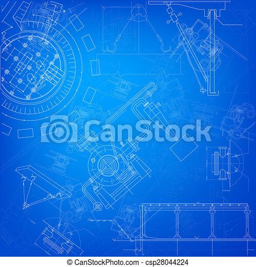 Blueprint scheme of different parts of machine clip art search blueprint csp28044224 malvernweather Image collections
