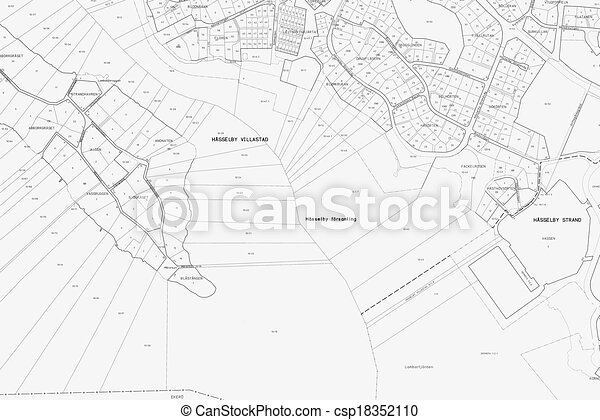 Old blueprint of a part in stockholm with all street and all blueprint csp18352110 malvernweather Choice Image