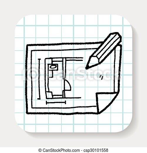 Blueprint doodle clipart vector search illustration drawings and blueprint doodle csp30101558 malvernweather Choice Image