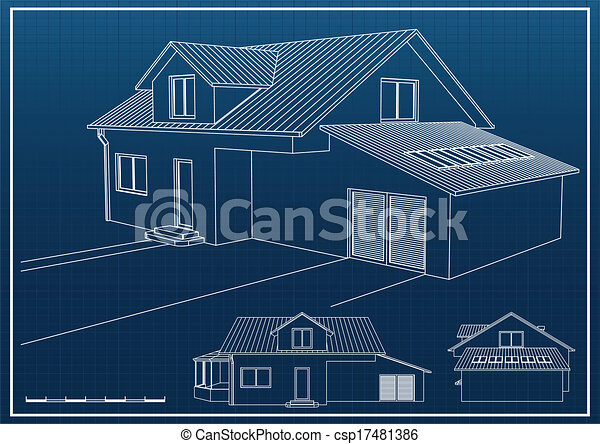 House blueprint vector background vector search clip art blueprint csp17481386 malvernweather Gallery