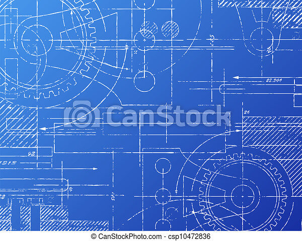 Blueprint illustrations and stock art 29896 blueprint illustration blueprint grungy technical blueprint illustration on blue malvernweather Image collections