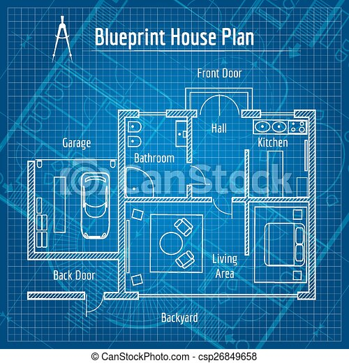 Blueprint house plan design architecture home drawing clipart blueprint house plan csp26849658 malvernweather Image collections