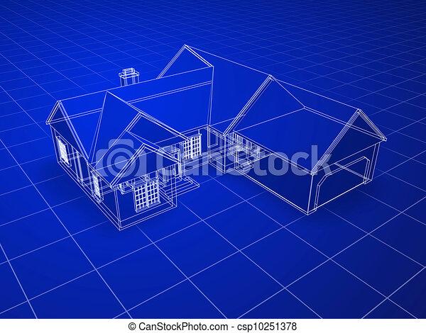 Blueprint house - csp10251378