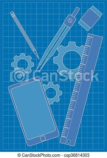 Blueprint modern design blueprint gears and designengineering blueprint modern design csp36814303 malvernweather Images
